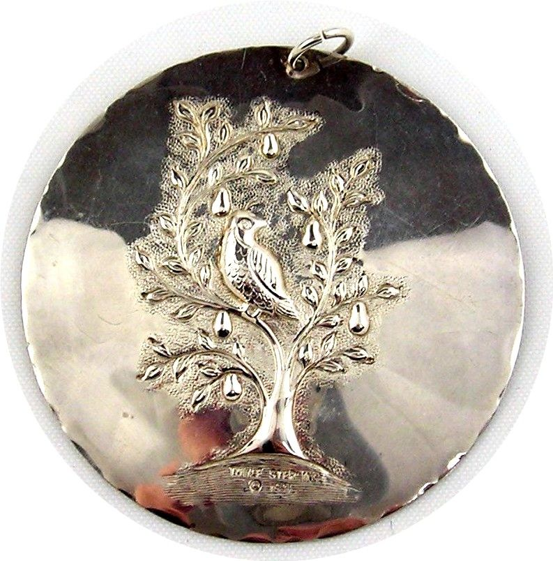 Partridge In A Pear Tree Ornament First Edition Towle St...