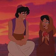Aladdin & Jasmine - Sunset Romance, Ltd Ed Cel by Disney Stds