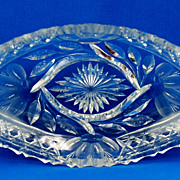 American Brilliant Period Cut Glass Dish - H. C. Fry
