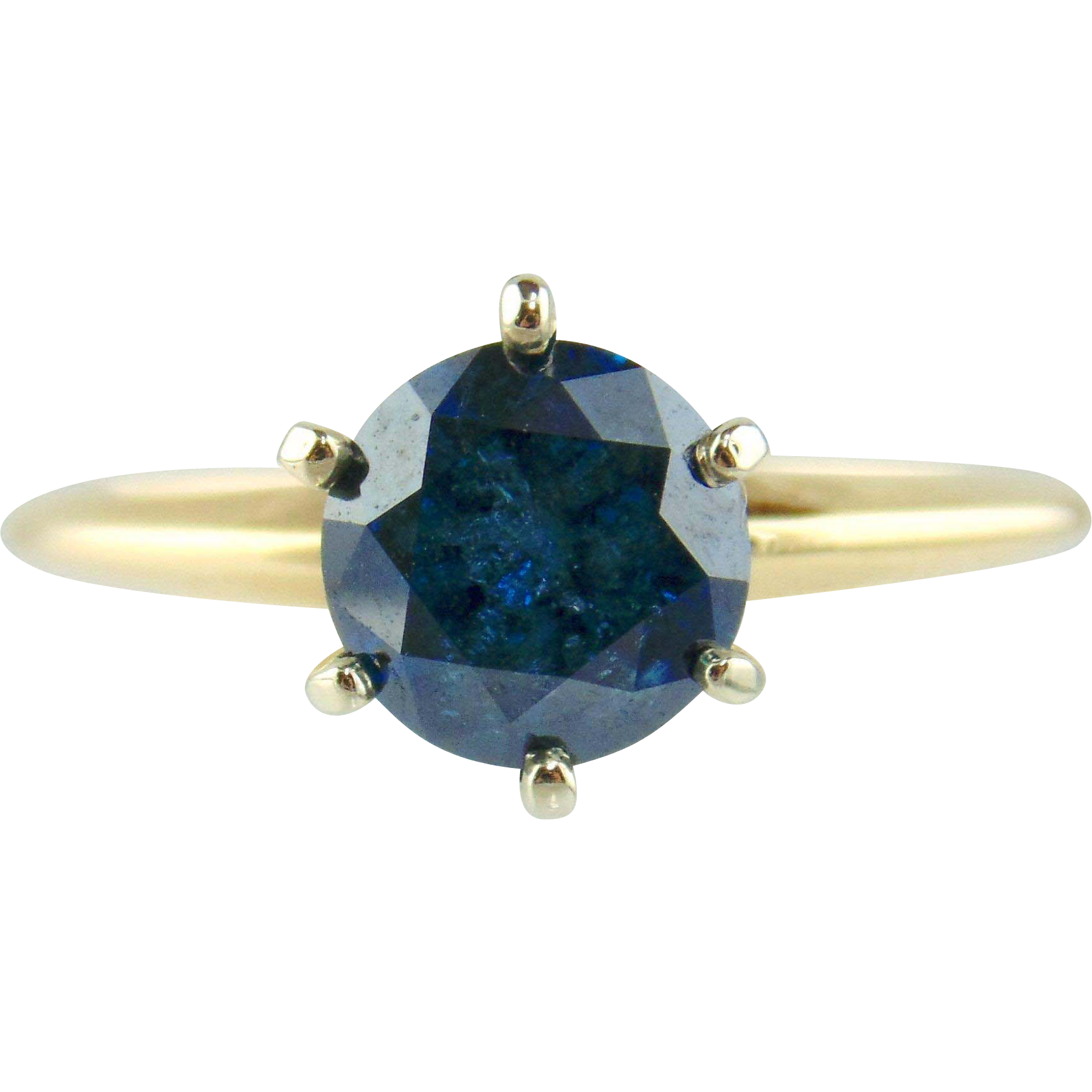 Blue Diamond Ring 14kt Two-tone Gold - 1. 53cts