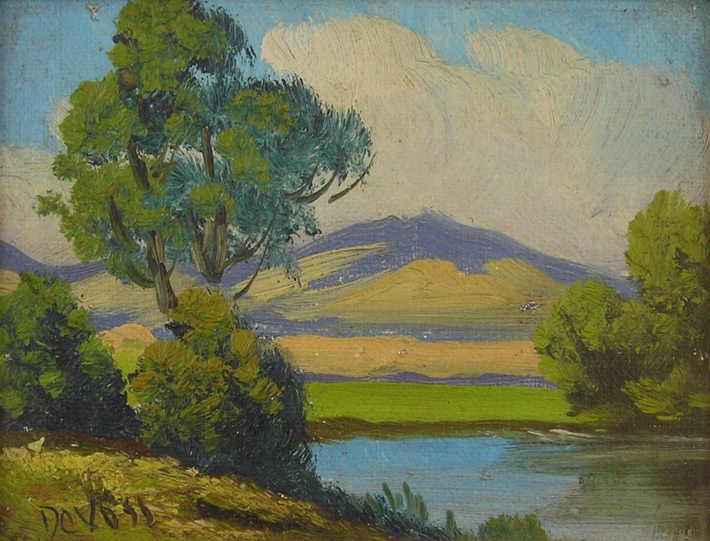 Original Oil Painting by Listed California Artist,  George Devoss