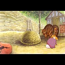 Beatrix Potter - Old Mr. Bouncer : Production Animation Cel