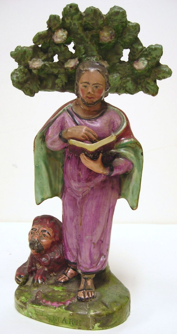 Antique Staffordshire Figurine of St Mark