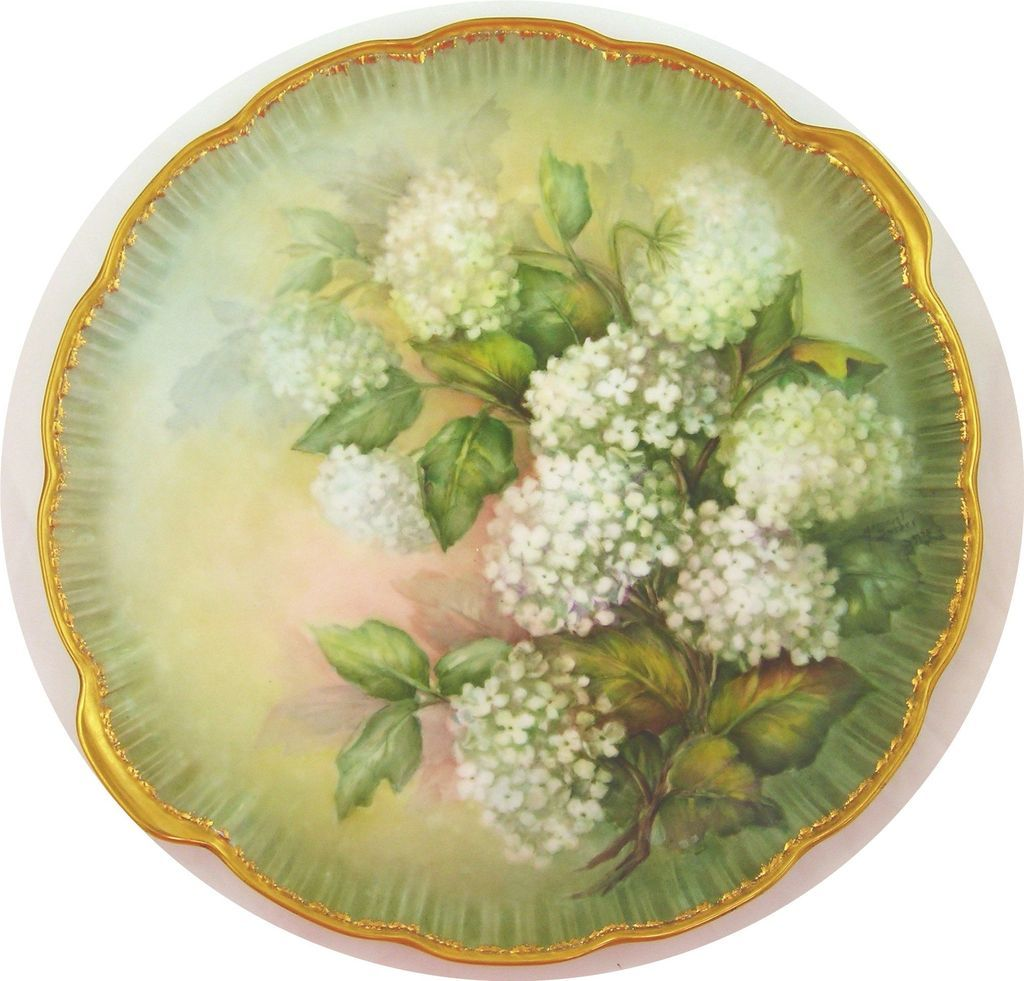 Hand-Painted Porcelain Platter by Margaret Surber
