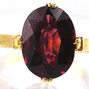 Garnet  Ring 14kt Yellow Gold , Size 6 1/2