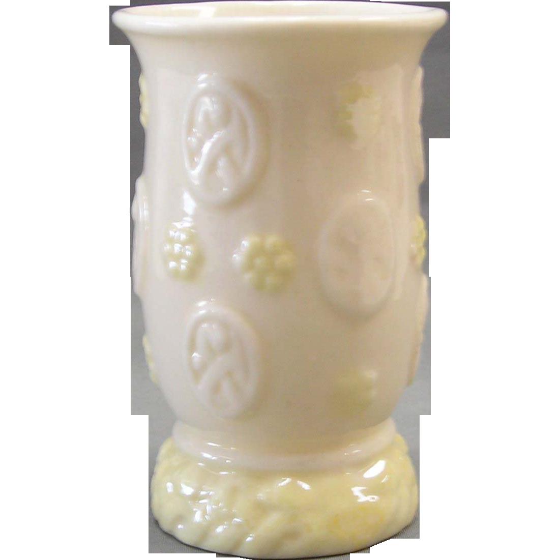 Irish Belleek  Erne Spill Vase-6th Mark