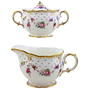 Royal Crown Derby Porcelain Cream & Sugar - Royal Antoinette