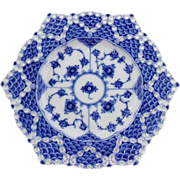 Royal Copenhagen Blue Fluted Double Lace Plate