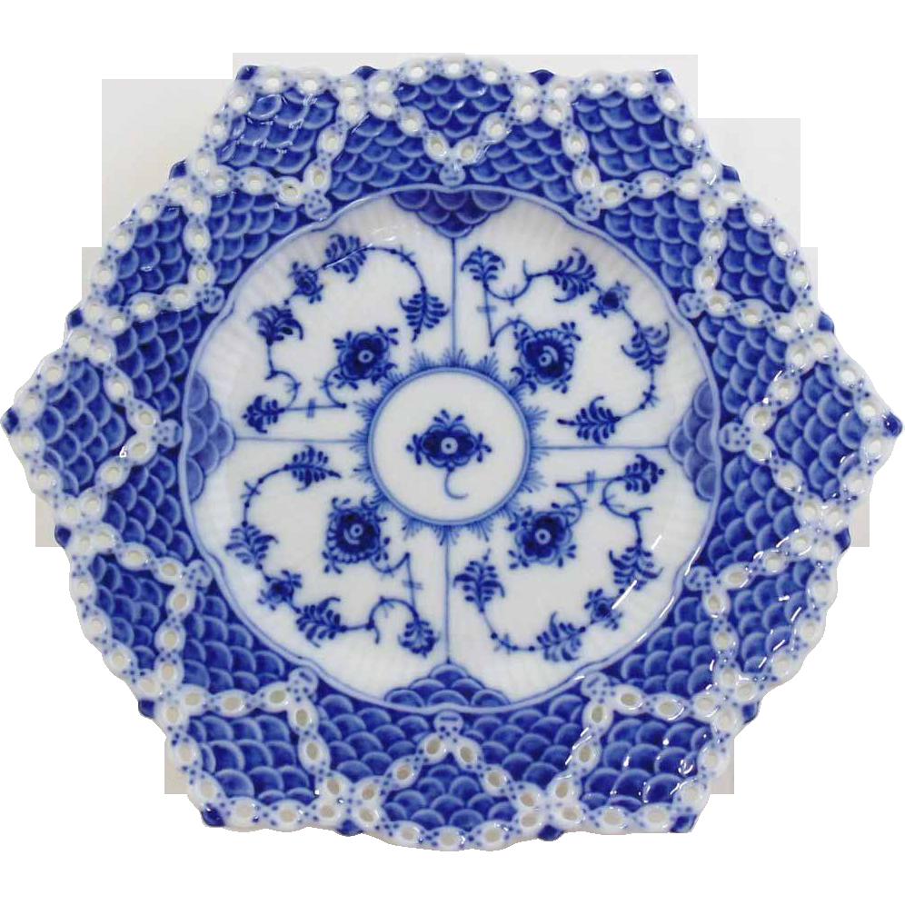 Royal Copenhagen Blue Fluted Double Lace Plate