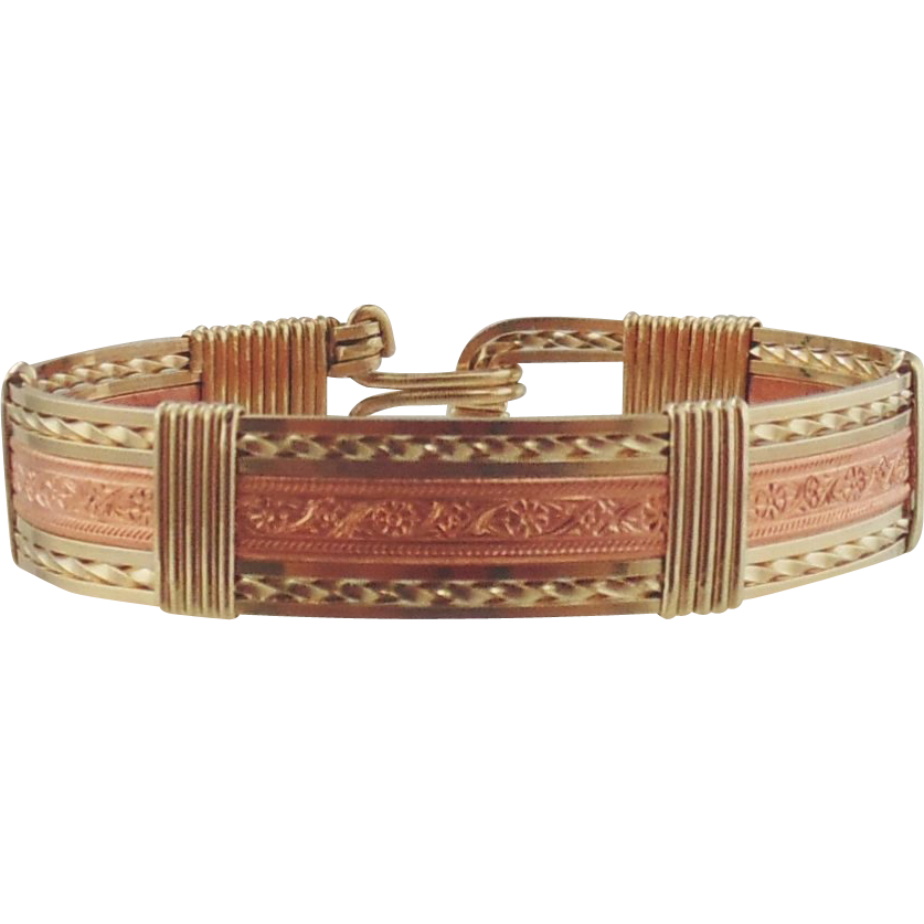 14kt Gold Filled & Copper Bracelet by Hebe Wiseman