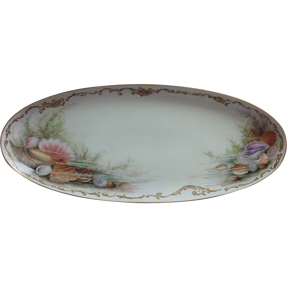Hand Painted Hutschenreuther Selb  Oval Platter by Surber