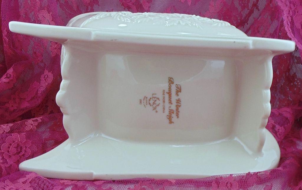 Lenox porcelain winter bouquet sleigh centerpiece from