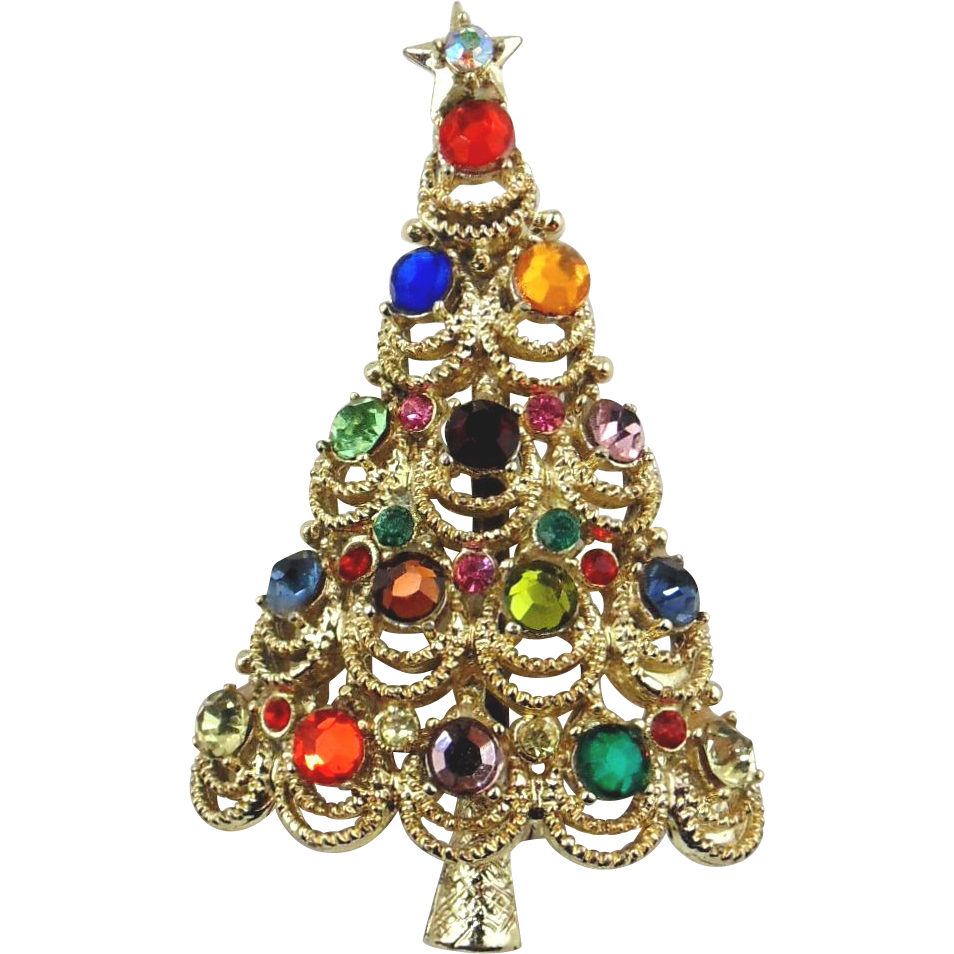 Christmas Tree Pin - Signed PAKULA
