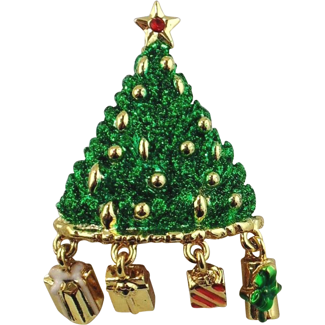 Christmas Tree Pin - Signed Danecraft