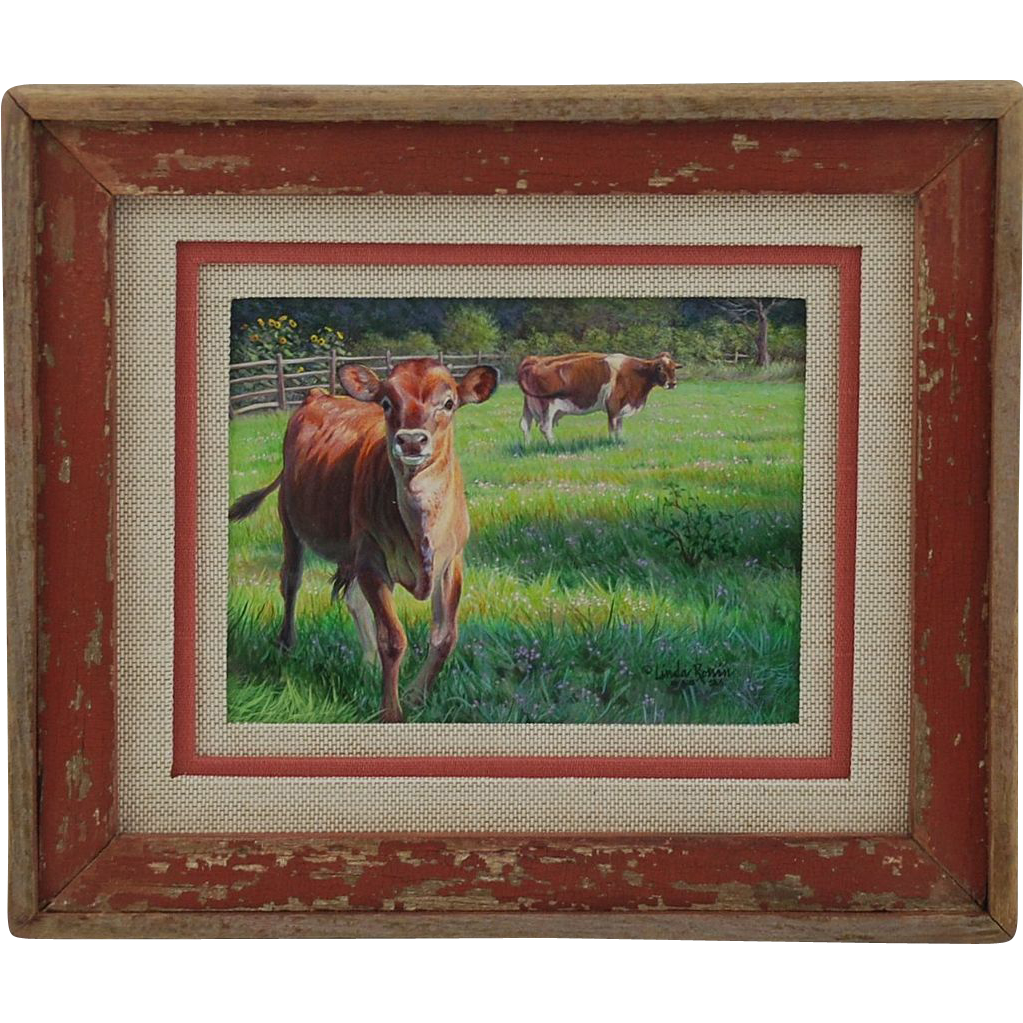 Original Acrylic Painting  by Linda Rossin - Miniature
