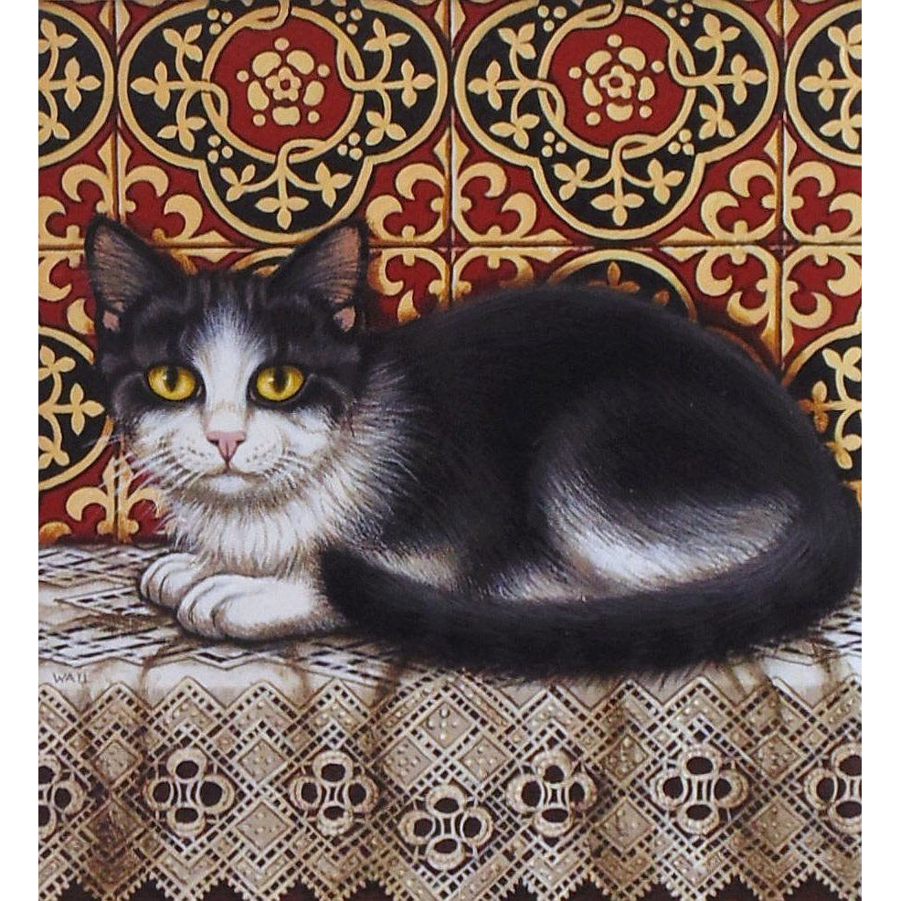 Original Acrylic Painting  by Sue Wall - Cat