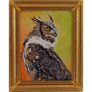 Original Oil Painting by Bev Abbott - Great Horned Owl