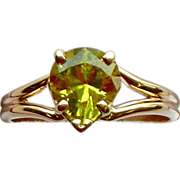 Chrysoberyl Ring 14kt Yellow Gold, Size 8