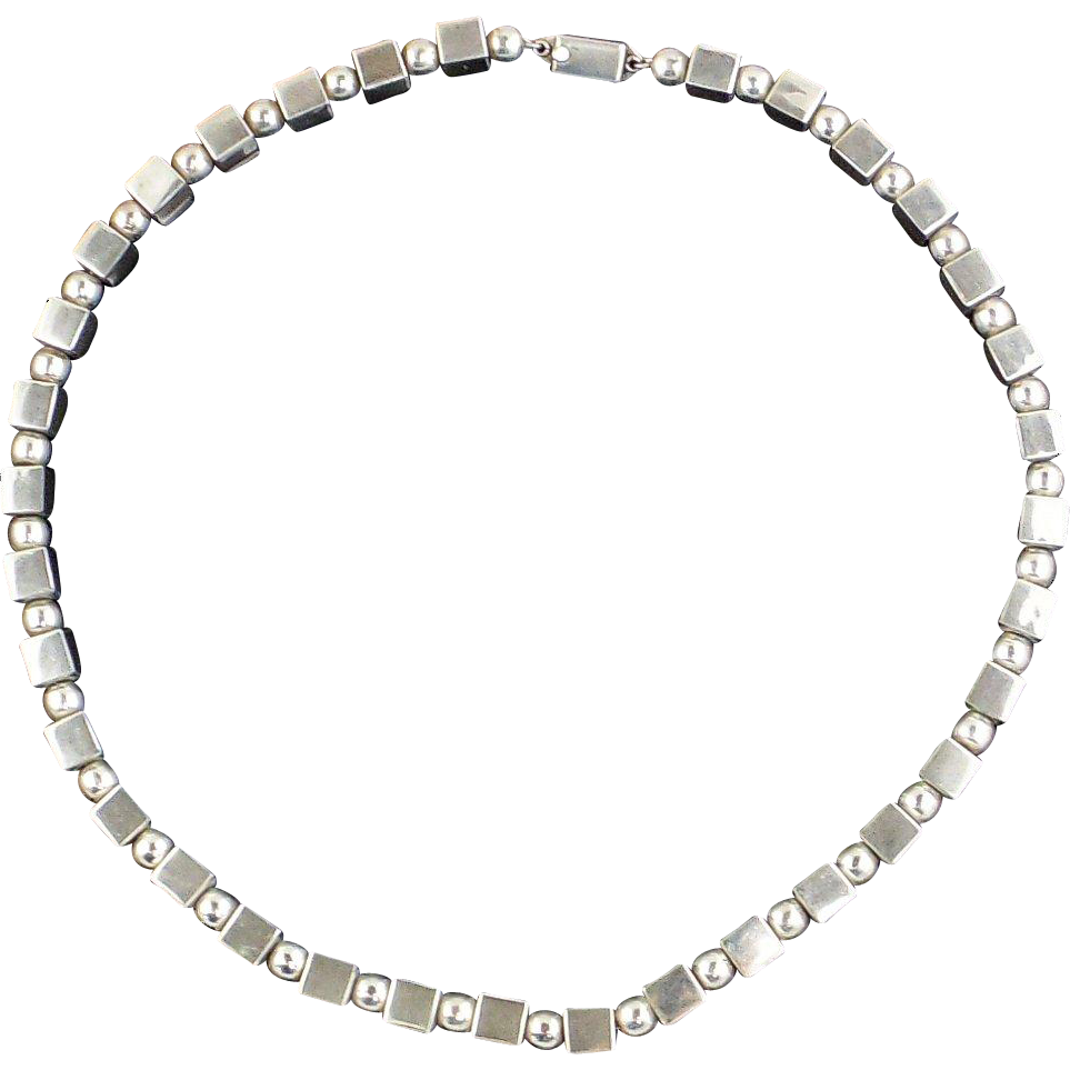 Sterling Silver Necklace, Unisex - Mexican