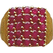 Ruby Ring 14kt Yellow Gold , Size 6 1/4