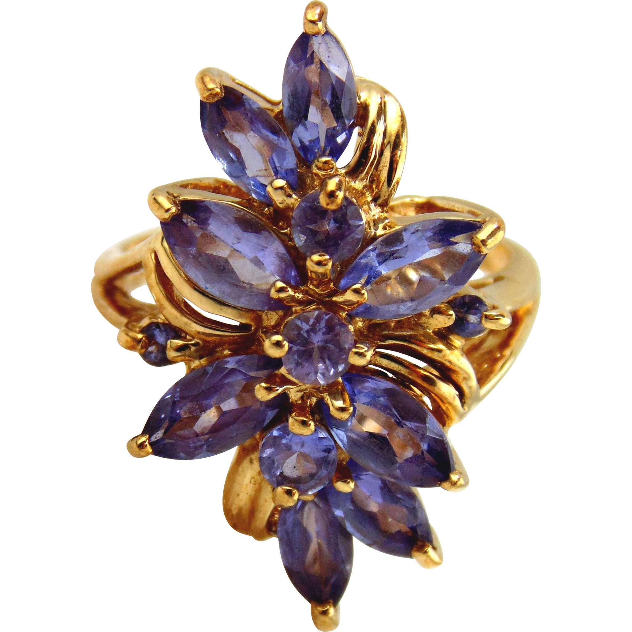 Tanzanite Ladies Ring  14kt Yellow Gold.