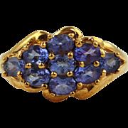 Tanzanite Ring 10kt Yellow Gold