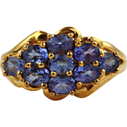 Tanzanite Ring 10kt Yellow Gold