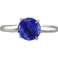 Tanzanite Solitaire Style Ring 14kt White Gold