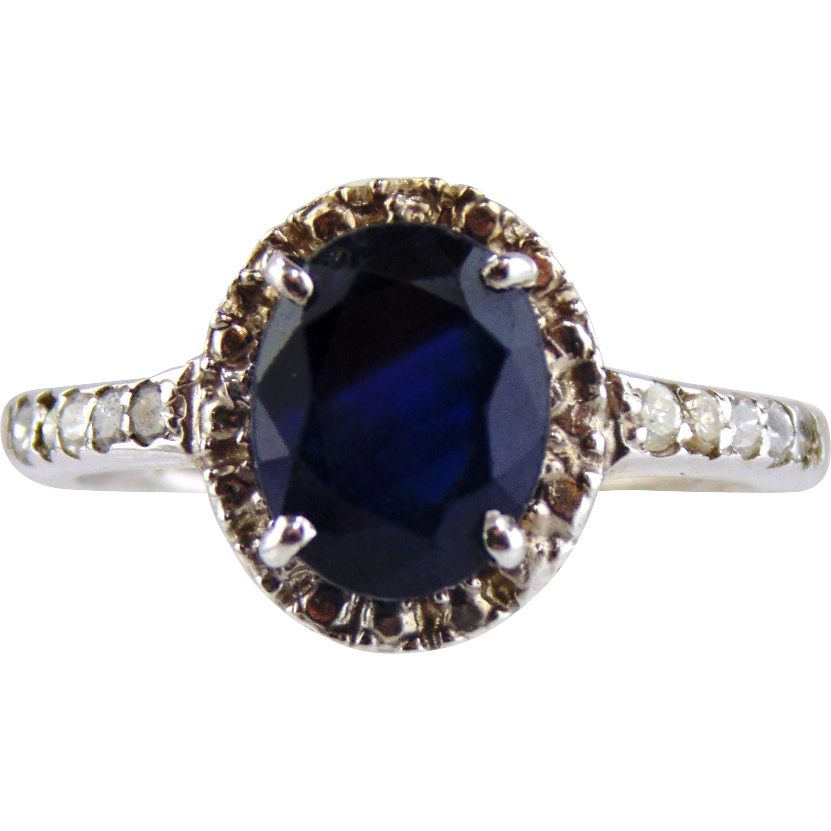 sapphire ring 14kt white gold from