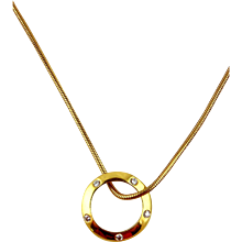 Diamond Pendant & Chain 18kt Yellow Gold