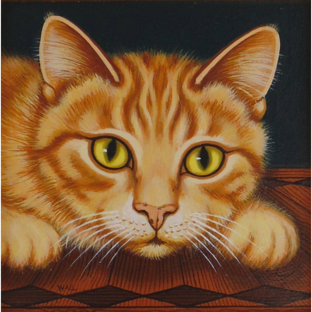 Cat - Original Art by Sue Wall