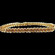 10kt Yellow Gold Diamond Tennis Bracelet