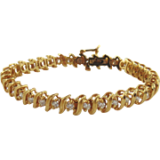 14kt Yellow Gold Diamond Tennis Bracelet-3cts