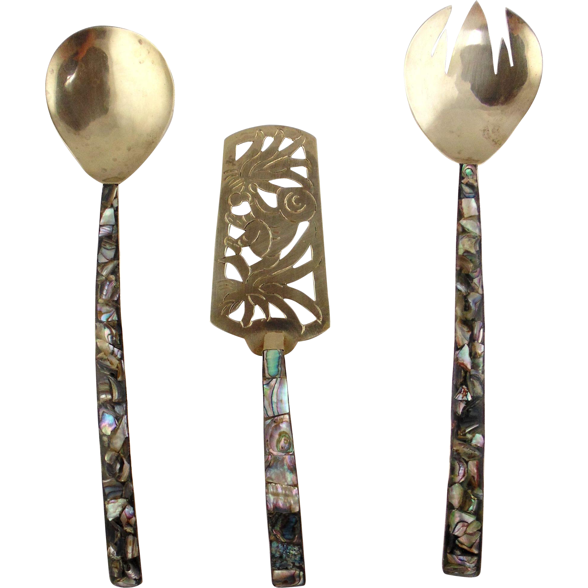 Alpaca & Abalone 3 Piece Serving Set-Mexico