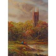 Original British Landscape Painting by Ron Cavalla