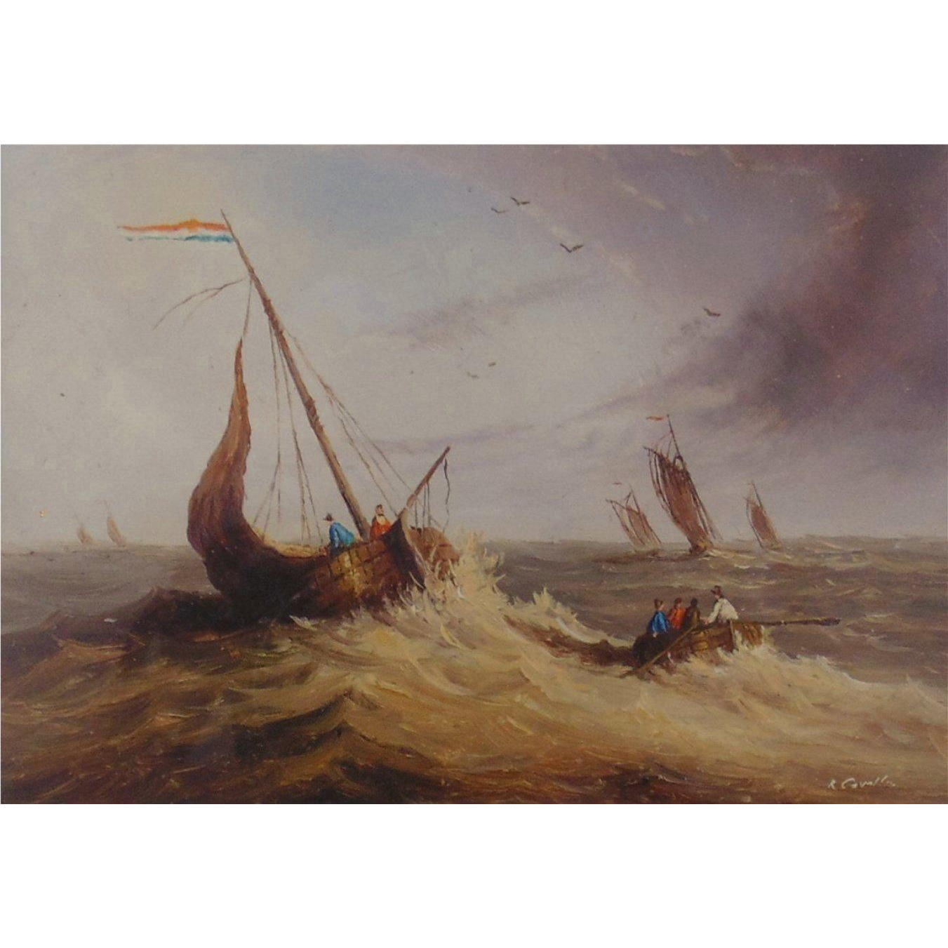 Original Seascape Painting by British Artist, Ron Cavalla- Listed