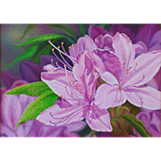 Original Oil Painting by Bev Abbott - Azaleas