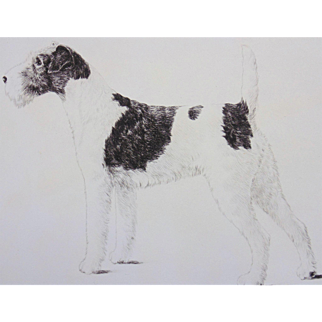 """Original Etching """"Queen of Them All"""" by Marguerite Kirmse"""