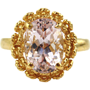 14kt Yellow Gold and Kunzite Ring size 6 1/2