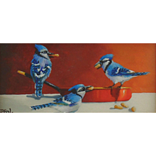 Miniature Oil Painting by Gail MacArgel-Peanuts Gang
