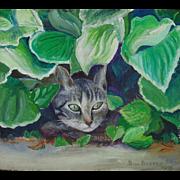 """Summer Shade"", Original Miniature Oil Painting by Bill Barnes"