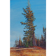 """Survivor"" Original Miniature Acrylic Painting by Travis R. Humphreys"