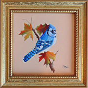 """Autumn Blues"", Original Miniature Oil Painting by Gail MacArgel"