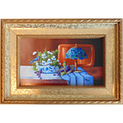 """Lighting By Tiffany"", Original Miniature Oil Painting by Gail MacArgel"