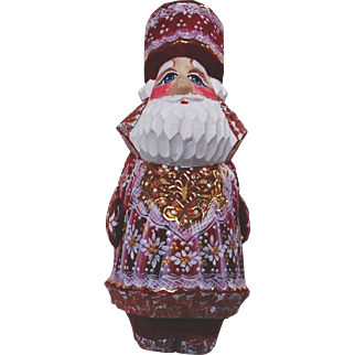 Russian Santa Carrying Christmas Box