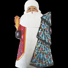 Russian Santa with Christmas Tree