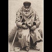 """The Beggar Series"", Original Etchings by David Hunter-Set of 3"