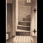Lighthouse Landing, Original Etching by David Hunter