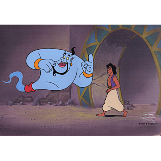 Aladdin & Genie, Original Production Animation Cel from Disney's Aladdin, the Series