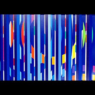 Festival Evening – Multi Blue Grill by  Yaacov Agam (Israel-b 1928)